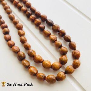 Jewelry - Boho Brown Beaded Job's Tears Seed Necklace